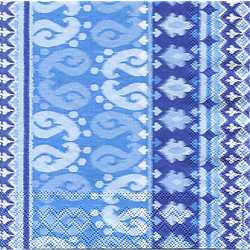 "Papierservietten ""Batik blau"", 33 x 33 cm, 20 Stück"