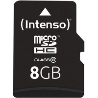 Intenso microSDHC 8GB Class 10 + SD-Adapter