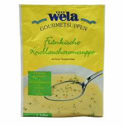 Fränkische Knoblauchcremesuppe 3 Teller - wela