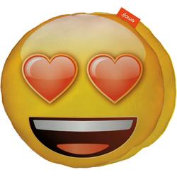 Emoji Dekokissen Love Eyes, im Smiley Design