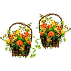Kunstpflanze Wildrosen, I.GE.A., Höhe 25 cm orange