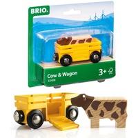 BRIO Tierwagen mit Kuh (33406)