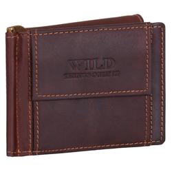 BAG STREET Geldbörse, Geldklammer Echt Leder RFID-Schutz mit Münzfach Geldclip Portemonnaie Geldbeutel braun