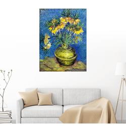 Posterlounge Wandbild, Kaiserkronen in einer kupfernen Vase 70 cm x 90 cm