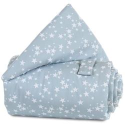 babybay Gitterschutz azurblau Sterne weiß