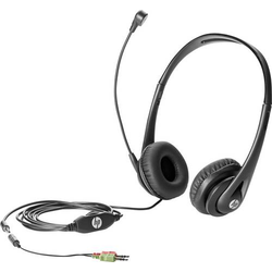 HP Business V2 PC-Headset 3.5mm Klinke schnurgebunden Over Ear Schwarz
