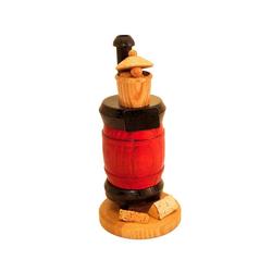 Schenk Holzkunst Räuchermännchen Ofen mit Topf