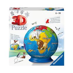 Ravensburger 3D-Puzzle puzzleball® Ø13 cm, 72 Teile, Kindererde, Puzzleteile