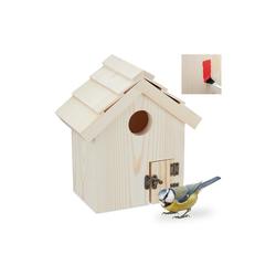 relaxdays Vogelhaus Vogelhaus aus Holz