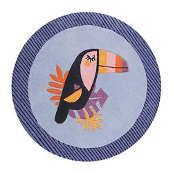 Teppichart E-Toucan mehrfarbig Gr. 100 x 100