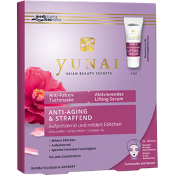 YUNAI Anti-Falten-Maske 25g+aktiv.Lifting-Ser.4ml 1 P