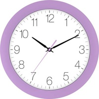EUROTIME 88800-21-2 Quarz Wanduhr 30cm x 4.5cm Krokus Schleichendes Uhrwerk (lautlos)