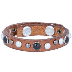 Liebeskind Liebeskind Stone Armband Leder 23 cm