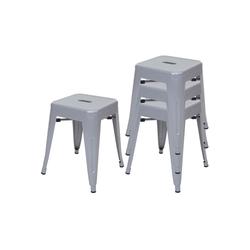 MCW Barhocker MCW-A73-H-4 (Set, 4er), Stapelbar grau