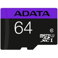 A-Data microSDXC Premier 64GB Class 10 UHS-I + SD-Adapter