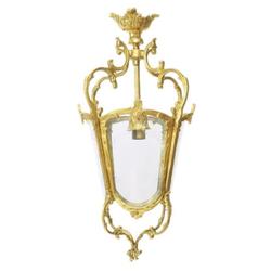 Casa Padrino Barock Hängeleuchte Gold Deckenlaterne - Restaurant - Hotel Lampe Leuchte Laterne