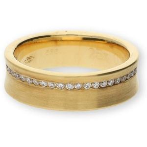 JuwelmaLux Goldring Ring in Gelbgold 585er 14 Karat mit Brillanten