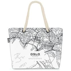 VOID Strandtasche (1-tlg), Oslo Karte Beach Bag landkarte oslo norge skandinavien nordisch skandinavisch