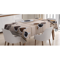 Abakuhaus Tischdecke Personalisiert Farbfest Waschbar Für den Außen Bereich geeignet Klare Farben, Kaffee Kaffeetassen Snacks Bohnen 140 cm x 240 cm