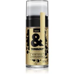 TONI&GUY Rose Gold Highlighter Glitzer für das Haar 3,5 g