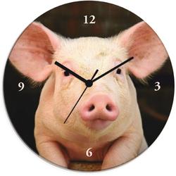 Wanduhr »Vorwitziges Schwein«, Wanduhren, 63853963-0 rosa rosa