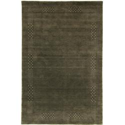 Wollteppich LORIBAFT NOVA, morgenland, rechteckig, Höhe 15 mm, Schurwolle Luxus Bordüre grau 70 cm x 140 cm x 15 mm