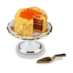 Reutter Porzellan Puppenhaus Reutter Porzellan Miniaturen - Nusstorte Torte Kuchen 1.660/5 Puppenstube Deko