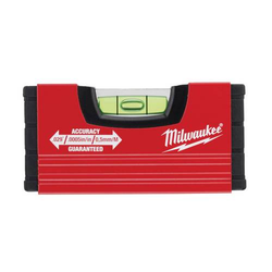 Milwaukee Wasserwaage Minibox 10cm, Aluwasserwaage, Aluminium Miniwasserwaage