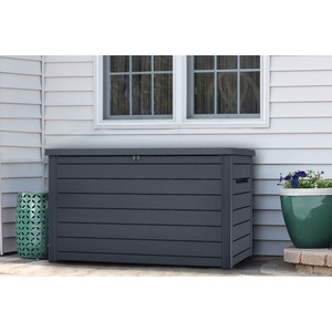 Keter Gartenbox Ontario - 870 l, anthrazit, Kissenbox Auflagenbox Kissentruhe