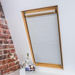 Dachfensterplissee, Universal Dachfenster-Plissee, Liedeco, verdunkelnd, ohne Bohren, verspannt, weiß