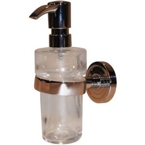 Emco polo Flüssigseifenspender (Inhalt 130 ml, Behälter Kristallglas weiß, Höhe 171,8 mm) Pumpkopf Kunststoff chrom, 72100101