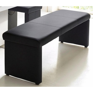 Homexperts Sitzbank (1-St), wahlweise mit Rückenlehne schwarz 160 cm x 83 cm x 54 cm