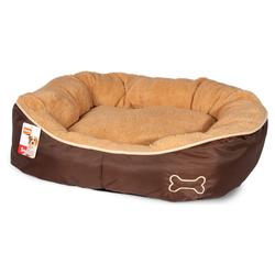 Karlie Hundekorb Chipz rund beige, Maße: 52 x 46 x 18 cm