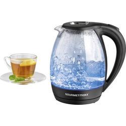 GourmetMaxx 07971 Wasserkocher schnurlos Schwarz, Glas