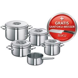 SCHULTE-UFER Meister-Set ROMANA i 5 teilig + Santoku-Messer Topf-Set