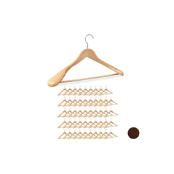 relaxdays Kleiderbügel 50 x Anzug Kleiderbügel natur