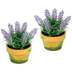 I.GE.A. Kunstblume (Set, 2 Stück) lila Kunstblumen Kunstpflanzen Wohnaccessoires