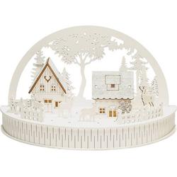 Konstsmide 3280-210 LED-Szenerie Haus mit Tieren Warmweiß LED Weiß