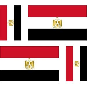 Akachafactory 4 x selbstklebend Sticker Auto Moto Koffer Laptop Flagge Ägypten Ägyptische