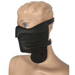 Leder Maulkorb Kopfmaske Half Face
