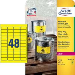Wetterfeste Folien-Etiketten 45,7x21,2 mm wetterfest 20 Blatt/960 Etiketten gelb