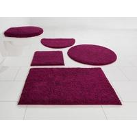 Home Affaire Badematte Maren Höhe 15 mm, rutschhemmend beschichtet, fußbodenheizungsgeeignet, Bio-Baumwolle rot rund - Ø 75 cm x 15 mm