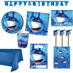 XXL-Partyset Haifisch, 66-tlg.