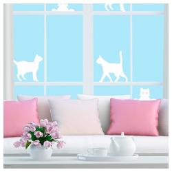 Fensterfolie Fenster Sichtschutzfolie Katze, Folie für Sichtschutz am Fenster 14294, JOKA international, Schutzfolie fürs Fenster
