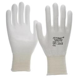 NITRAS D.-Handschuhe PU weiß-weiß VE 100 Paar