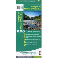 Monts d'Ardèche 1:75 000