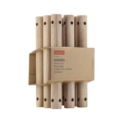 Bodum NISSEN Weinregal für 6 Flaschen, 28 x 23.5 cm Akazie