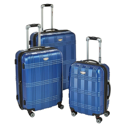 GMD Living Handgepäck-Trolley BOVANO, 4 Zwillingsrollen (8 Rollen) Rollen, mit Dehnungsfuge blau