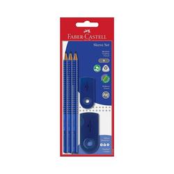 Faber-Castell Bleistift Bleistiftset GRIP 2001 blau, 5-tlg., inkl.