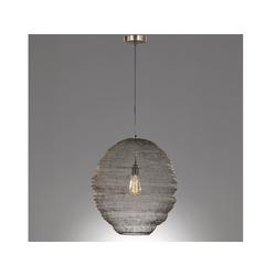 FISCHER & HONSEL LED Pendelleuchte, mit Lampen-Schirm aus Draht-Geflecht, Gitter-Lampen für über Esstisch-Lampen, Vintage, Esszimmer, Wohnzimmer, Galerie, Hängelampe Couch-Tisch braun Ø 35 cm